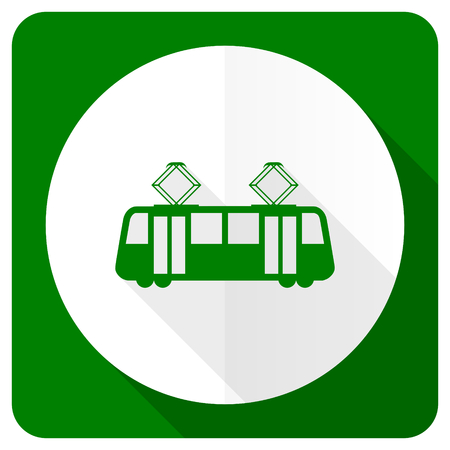 tram flat icon public transport sign photo