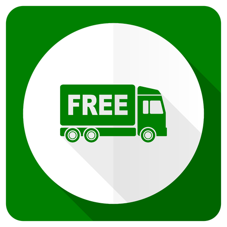 free delivery flat icon transport sign photo