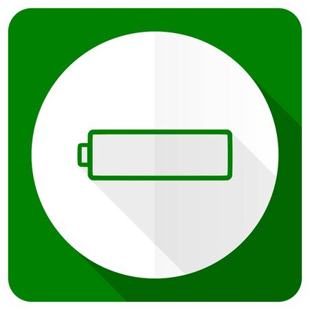 accuse: battery flat icon charging symbol power sign Stock Photo