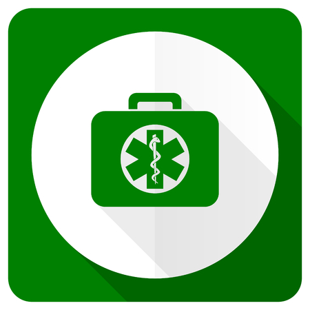 emergency kit: rescue kit flat icon emergency sign