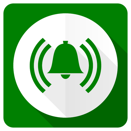 safe and sound: alarm flat icon alert sign bell symbol Stock Photo