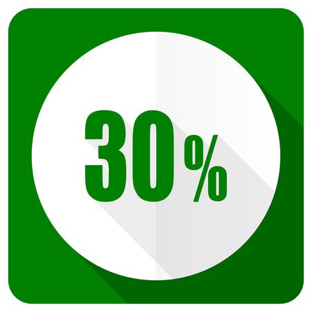 30: 30 percent flat icon sale sign