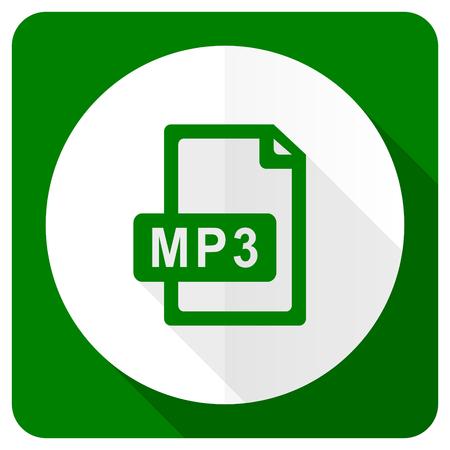 mp3: mp3 file flat icon