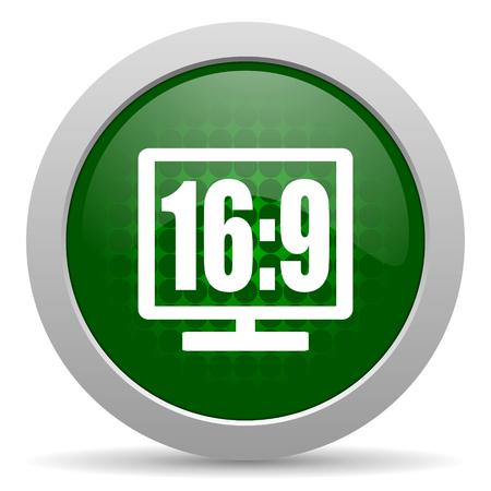 16: 16 9 display icon