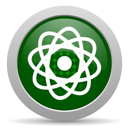 gamma radiation: atom icon Stock Photo