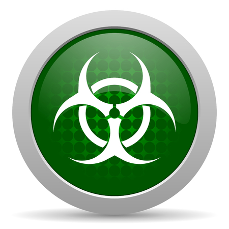 bacterioa: biohazard icon virus sign