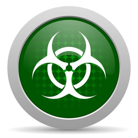 riesgo biologico: icono de la muestra del virus de riesgo biológico
