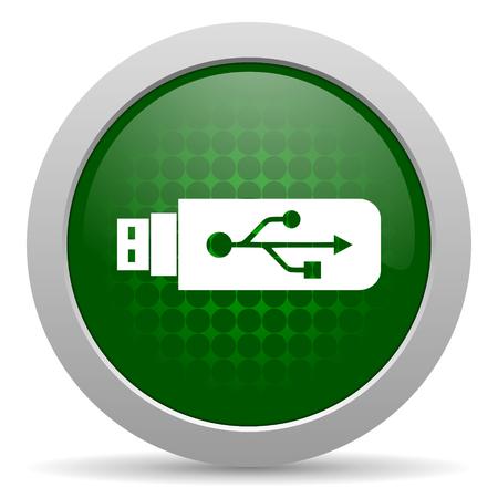 usb icon flash memory sign photo