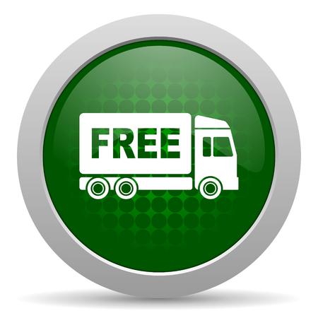 délivrance: livraison gratuite signe de transport de l'icône Banque d'images