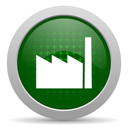 industrialist: factory icon industry sign manufacture symbol Stock Photo