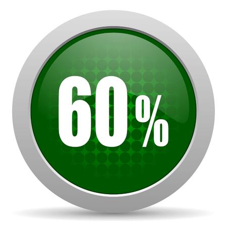 60: 60 percent icon sale sign