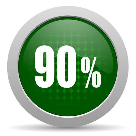 90: 90 percent icon sale sign