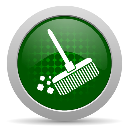 clean: broom icon clean sign