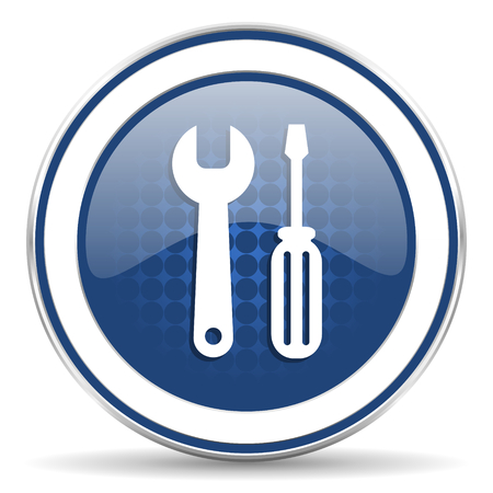 oryginal: tools icon, service sign Stock Photo