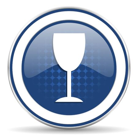 champain: alcohol  icon, glass sign Stock Photo