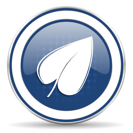 application recycle: nature icon, leaf symbol Stock Photo