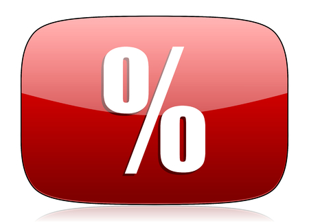 percent red glossy web icon photo
