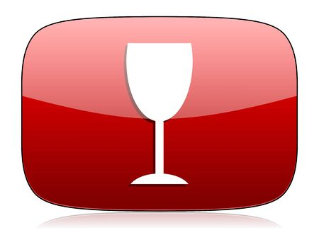 champain: www red glossy web icon