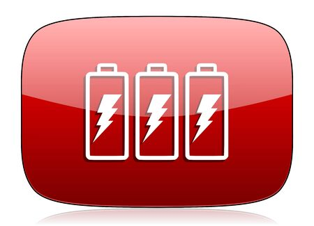 accuse: battery red glossy web icon