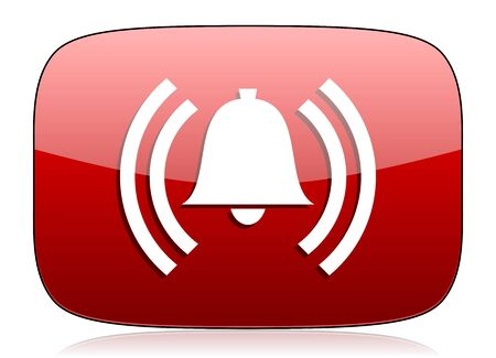 alarm red glossy web icon photo