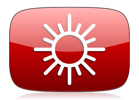 sun red glossy web icon photo