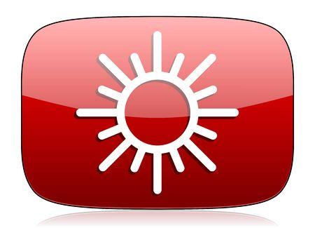 sun red glossy web icon photo