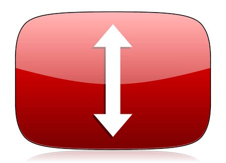 sterring: arrow red glossy web icon Stock Photo