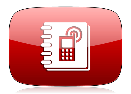 phonebook: phonebook red glossy web icon