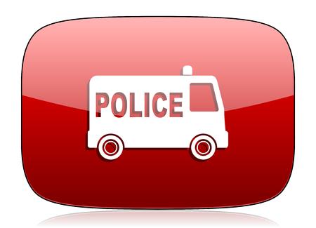 patrolman: police red glossy web icon