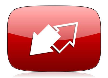 icono web: intercambio icono rojo brillante Web