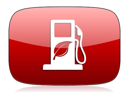biodiesel plant: biofuel red glossy web icon