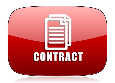 pacto: contratar icono rojo brillante Web