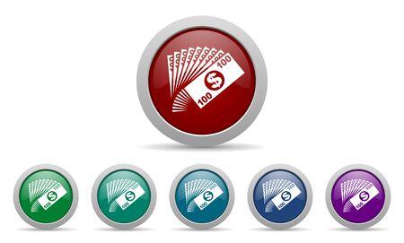 cash money: money icon cash symbol Stock Photo