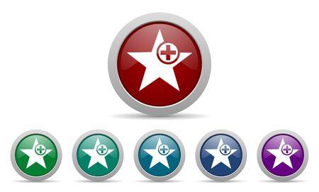 add: star icon add favourite sign Stock Photo