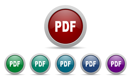 pdf: pdf icon Stock Photo