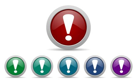 exclamation sign icon warning sign Stock Photo