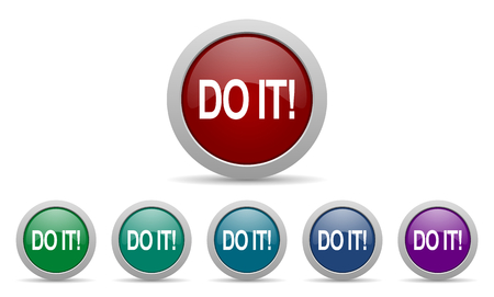 do it icon Stock Photo