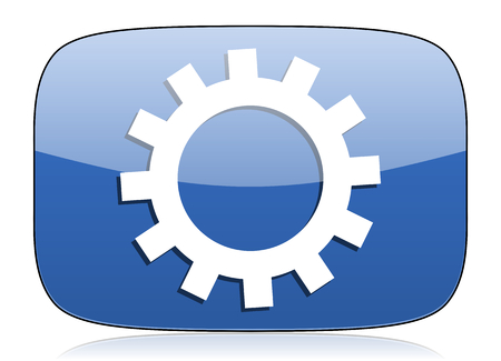 gears icon: gears icon options sign Stock Photo