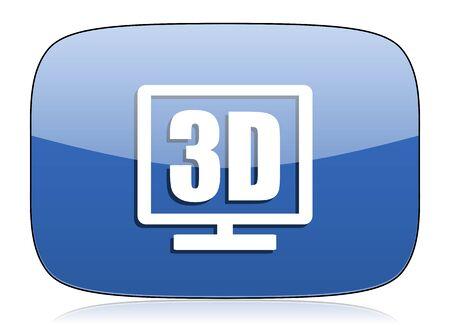 programm: 3d display icon Stock Photo