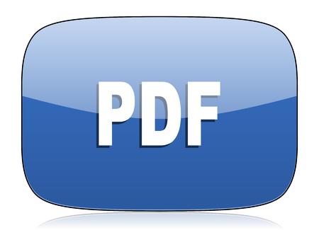 pdf: pdf icon Stock Photo
