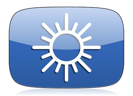 sun icon waether forecast sign photo
