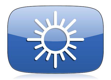 sun icon waether forecast sign photo