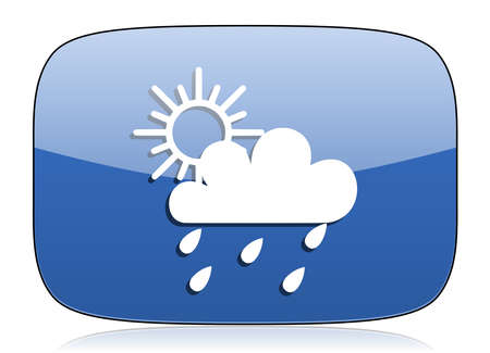 pushbuttons: rain icon waether forecast sign Stock Photo