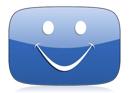 carita feliz caricatura: icono de sonrisa