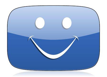 smiley face cartoon: smile icon Stock Photo