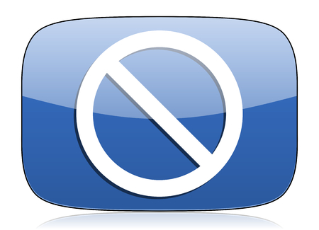 denied: access denied icon Stock Photo