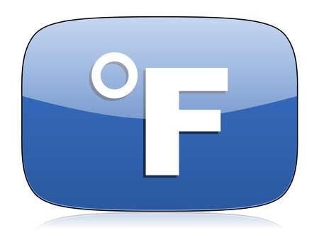 fahrenheit: icono de la unidad de temperatura Fahrenheit signo
