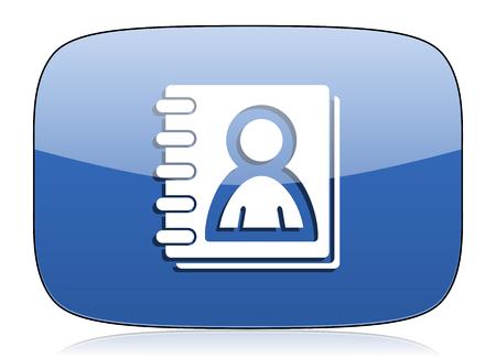 address: address book icon Stock Photo