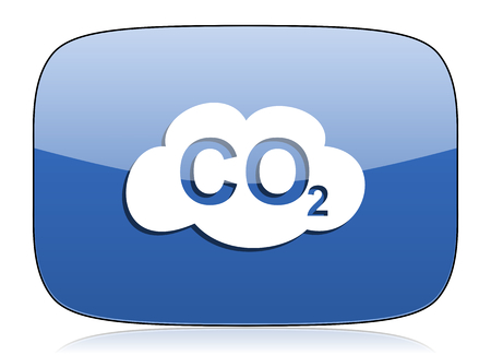 carbon dioxide: carbon dioxide icon co2 sign