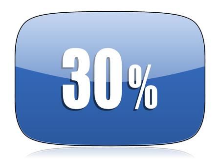 30: 30 percent icon sale sign